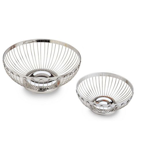 Chrome Round Wire Basket - MORE OPTIONS